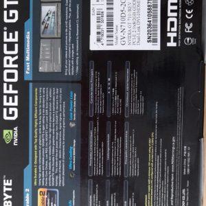 Tarjeta de video Geforce GT 710 2 GB DDR5