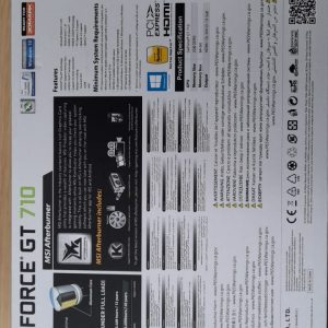 Tarjeta de video Geforce GT710 2GB DDR3 PCI E 2.0